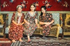 Vrouwen in Ashgabat in Turkmenistan Stock Foto