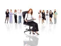 Vrouwen in bedrijfsconcept Stock Afbeeldingen