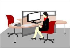 Vrouwen in bureauruimte Stock Afbeeldingen