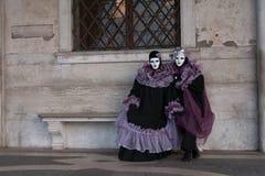 Vrouwen in Carnaval-kostuum stock afbeelding