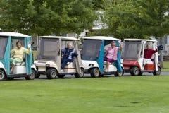 Vrouwen in de Karren van het Golf royalty-vrije stock foto