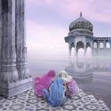 Vrouwen in de mist Royalty-vrije Stock Foto