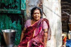 Vrouwen in de straten van Varanasi stock afbeelding