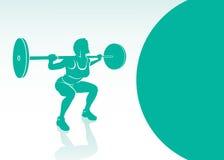 Vrouwen die achtergrond bodybuilding stock illustratie