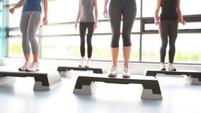 Vrouwen die aerobics doen stock video