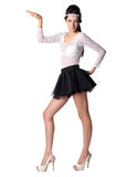 Vrouwen die in de Egyptische stijl dansen Stock Afbeeldingen