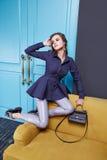 Vrouwen die de stijl van de de inzamelingsmanier van de make-upcatalogus kleden Royalty-vrije Stock Afbeelding
