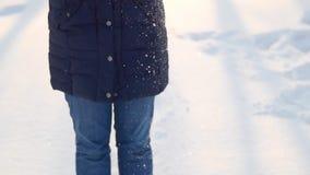 Vrouwen die de winter van dag, het spelen, het glimlachen genieten stock footage