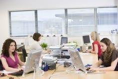 Vrouwen die in een bureau werken