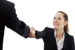 Vrouwen die een commerciële vergadering hebben royalty-vrije stock afbeeldingen