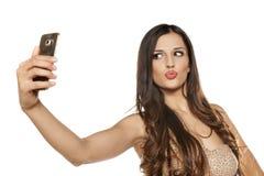 Vrouwen die selfie maken stock afbeelding
