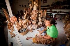 Vrouwen die in workshop werken Stock Foto