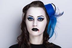 Vrouwen donkere vampier Royalty-vrije Stock Foto