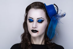 Vrouwen donkere vampier Stock Foto