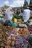 Vrouwen in een Ethiopische markt Royalty-vrije Stock Foto's