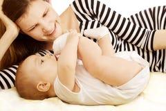 Vrouwen en baby Royalty-vrije Stock Foto's