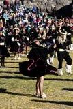 Vrouwen en Mannen in Traditioneel Inca Costumes Inti Raymi Festival Stock Fotografie