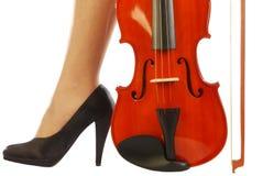 Vrouwen en muzikaal instrument 001 Stock Fotografie