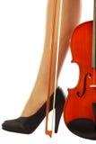 Vrouwen en muzikaal instrument 004 Royalty-vrije Stock Afbeelding