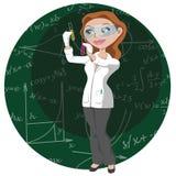 Vrouwen en wetenschap stock afbeelding