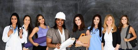 Vrouwen in het Aantal arbeidskrachten stock foto