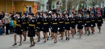 Vrouwen het marcheren Royalty-vrije Stock Fotografie