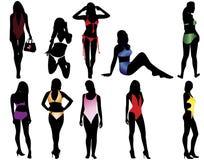 Vrouwen in het zwempak Royalty-vrije Stock Afbeelding