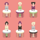 Vrouwen in koffie Royalty-vrije Stock Foto