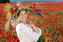 Vrouwen in kroon Royalty-vrije Stock Foto's