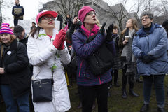 Vrouwen Maart in Toronto Stock Fotografie