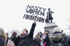 Vrouwen Maart in Toronto stock afbeelding