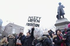 Vrouwen Maart in Toronto royalty-vrije stock afbeelding