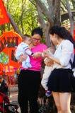 Vrouwen met babys Stock Foto