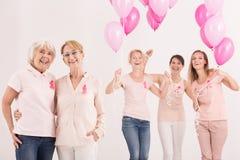 Vrouwen met ballons Stock Fotografie