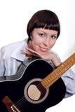 Vrouwen met gitaar royalty-vrije stock foto's
