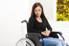 Vrouwen met handicap. stock foto