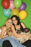 Vrouwen met kleine honden. Royalty-vrije Stock Fotografie