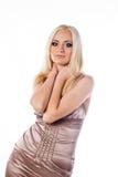 Vrouwen met lange blonde haren Stock Fotografie