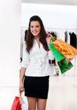 Vrouwen met pakketten het winkelen Royalty-vrije Stock Fotografie