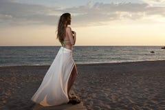 Vrouwen op het strand Stock Foto
