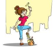 Vrouwen op het werk stock illustratie