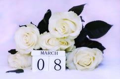 Vrouwen` s dag, 8 Maart Stock Foto's