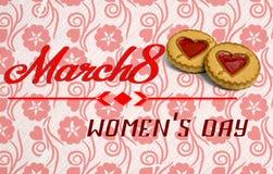 Vrouwen ` s Dag 8 Maart stock afbeelding
