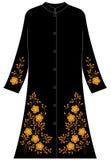 Vrouwen` s kleding: Vijf bloemblaadjespapaver stock afbeelding