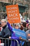 Vrouwen ` s maart Royalty-vrije Stock Foto