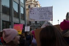 Vrouwen ` s Maart Londen, 2016 Stock Foto's