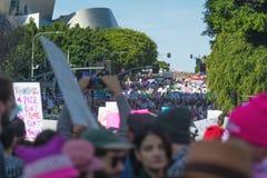 2017 vrouwen ` s Maart Los Angeles Stock Fotografie