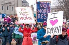 2017 vrouwen ` s Maart Minnesota Royalty-vrije Stock Foto's