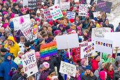 2017 vrouwen ` s Maart Minnesota Stock Fotografie