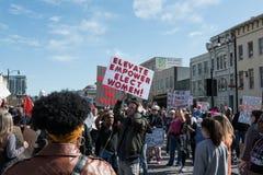2018 vrouwen ` s Maart in Montgomery Stock Foto
